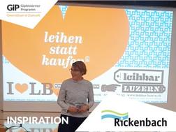 Sehen sie den Inspirationsvortrag der Leihbar Luzern von unserem ersten GiP-Workshop am 21.10. auf Youtube.