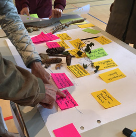 In der Ideenwerkstatt wurden zuvor im Einzelnen geträumte Visionen für die nachhaltige Entwicklung der Gemeinde Küsnacht zusammengetragen und modelliert.