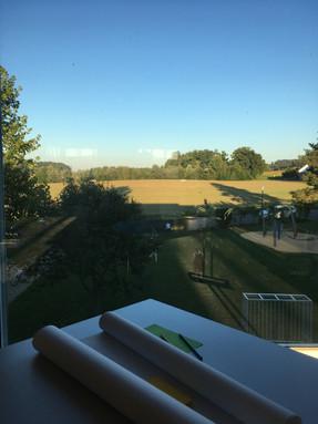 Ideenwerkstatt mit Aussicht - aus dem Singsaal auf Rickenbach