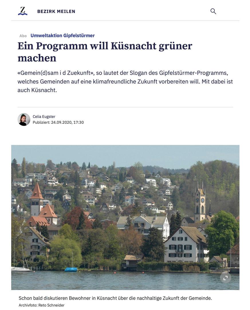 Das GiP in der Zürichseezeitung