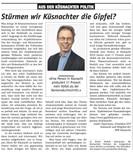 Das GiP im Küsnachter vom 5.11.2020. Herzlichen Dank an André Tapernoux für die positiven und motivierenden Zeilen!
