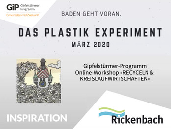 Der Inspirations-Vortrag von Andreas Schärer (Plastik-Experiment Baden) an unserem Workshop vom 10.12. zum Nachsehen auf Youtube.