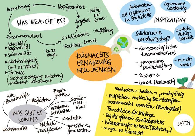 Lokale Ernährungssysteme für Küsnacht? Welche Möglichkeiten es gibt und wie wir unsere Beziehung zur Ernährung stärken können, haben wir am 10.02. in unserem Online-Workshop diskutiert. Die Notizen und Ideen zum Nachlesen.