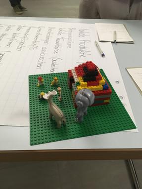 Lego-Modell für das Rickenbach der Zukunft - mit Begegnungszentrum und Natur