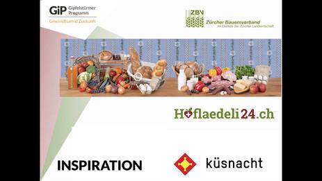 Marco Calzimiglia vom Zürcher Bauernverband stellt sein Projekt Hoflädeli24 vor - ein Automatensystem für Hofläden. Die Produkte sind so rund um die Uhr verfügbar und können per App überblickt werden. So fällt es ganz leicht, auf lokal und saisonal umzusteigen.