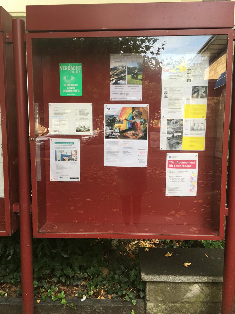 Überall an den Küsnachter Anschlagtafeln sieht man unsere Plakate für die GiP-Veranstaltungen. Am Samstag 3.10. ist der offizielle Startschuss für das gemein(d)same Pilot-Jahr in der Gemeinde gefallen. Nun wird es monatlich einen Workshop geben.