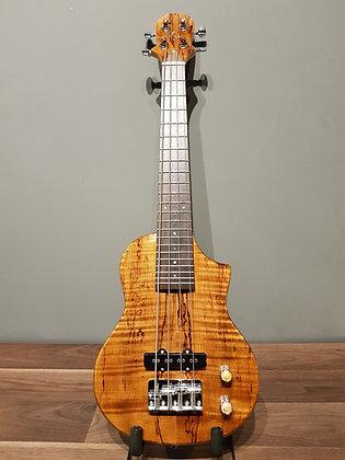 Honu EBU-SMP-N Electric Bass Ukulele Spalted Maple