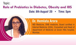 Role of Probiotics in Diabetes, Obesity and IBS