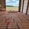 Barn floor heating