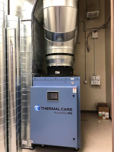 Spiral duct for a chiller