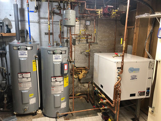 Geothermal hydronic heating system