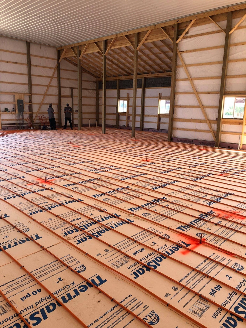 Agricultural in floor heating