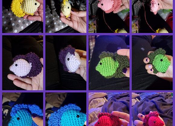 Set of 6 hand crochet cat nip toys