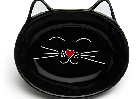 Oscar Cat Dish - Black