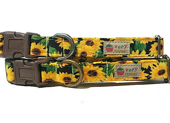 Sunflower - Organic Cotton Pet Cat Breakaway Collar