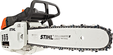 We use STIHL chainsaws for all our tree services
