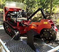Toro stump grinder on a trailer