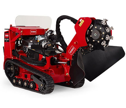 We use TORO equipment for stump grinding