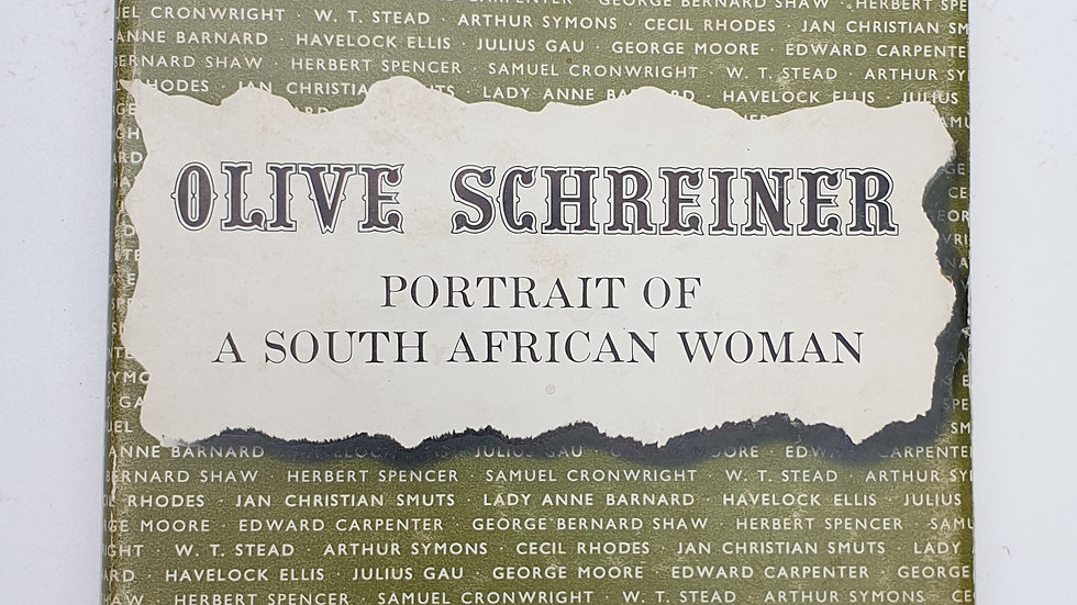 Olive schreiner, Portrait of a South African Woman