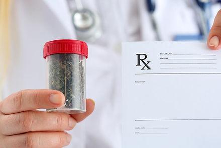 Manhattan Internal Medicine Associates's doctor prescribing medical marijuana to a patient as alternative medicine.