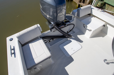 ParkerBoats 1801 Rear Seating and Storag