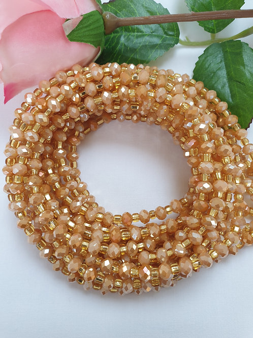 Camel and Gold waist beads