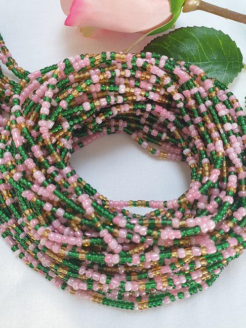 Pink & Green Waist Beads