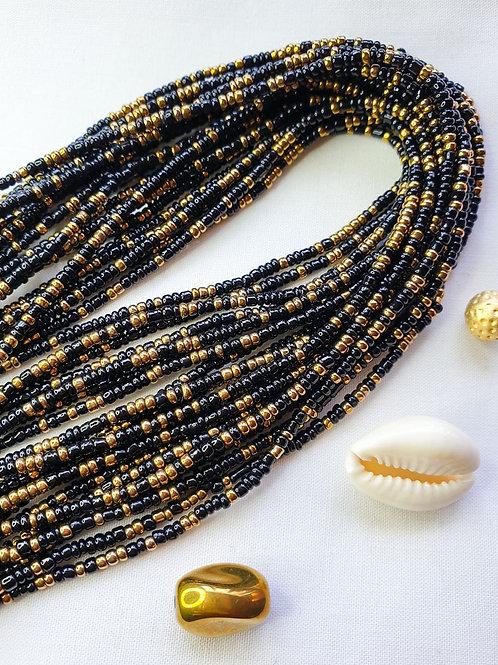 Black & Gold Waist Beads