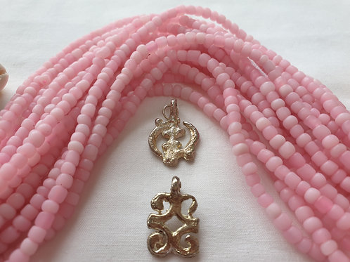 Frosted Rosy Pink Waist Beads