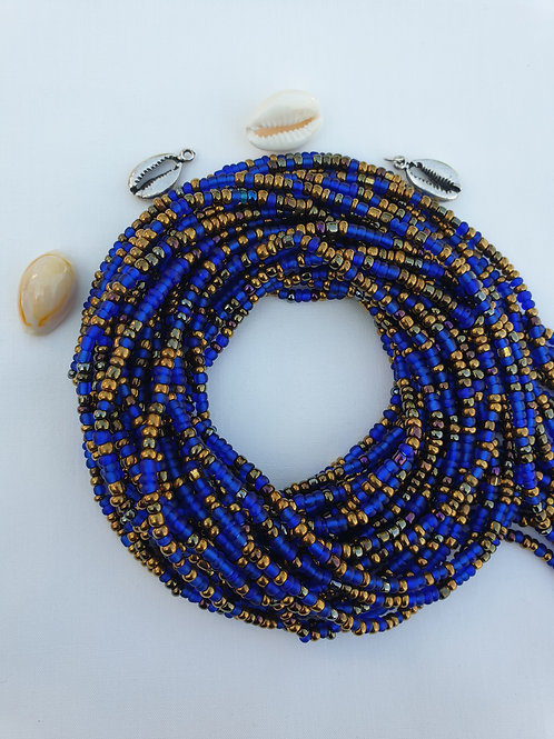Blue & Gold Waist Beads