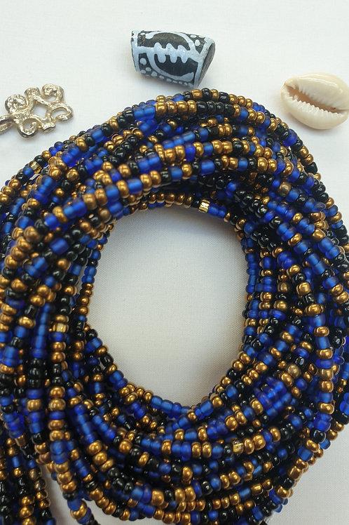 Black, Blue & Gold Waist Beads