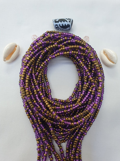Purple & Gold Waist Beads