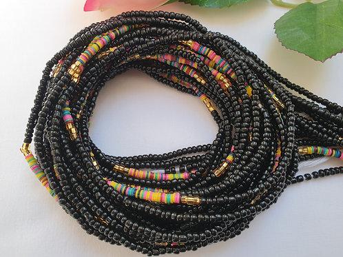 Black and Vinyl Waist Beads