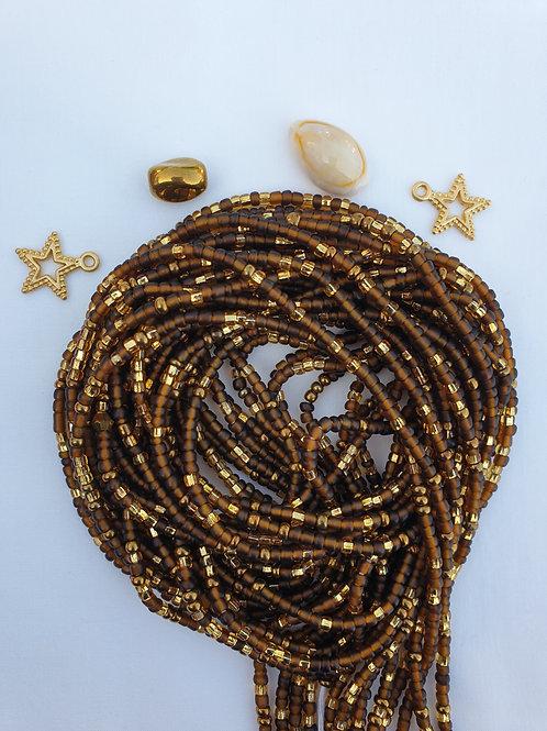 Brown & Gold Waist Beads