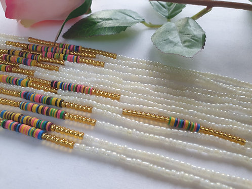 Mixed Seed and Vinyl Waist Beads