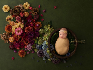 Belle and her newborn photo session