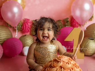 Happy first birthday. Professional Walsall Photographer