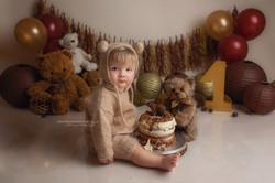 Cake smash photo session Birmingham