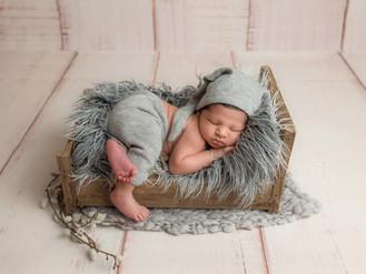 Xavier's professional newborn photo session