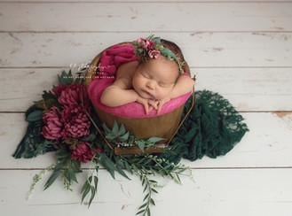 Elsie Rose. Newborn girl photo session
