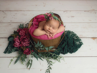 Elsie Rose. Newborn girl photo session