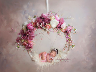 Ayva and her professional newborn photo session in Walsall.