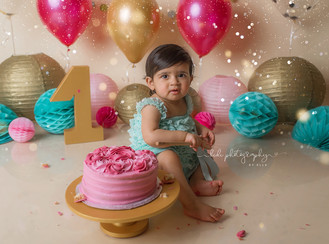 Professional cake smash and splash photo session. Walsall