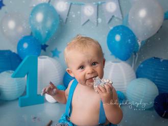 Happy birthday Austin.  Cake smash and splash professional photo session.