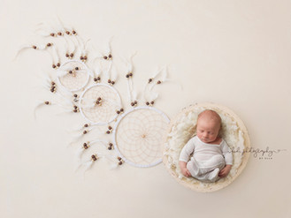 Banksy's professional newborn photo session.