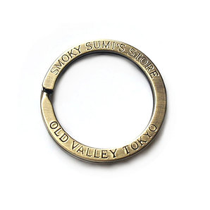 33mm Diameter Flat Split Ring [ Antique Brass ]