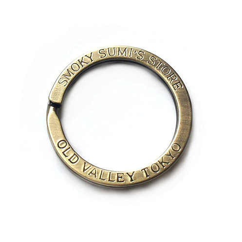 33mm Flat Split Ring [ Antique Brass ] Smoky Sumi's Store