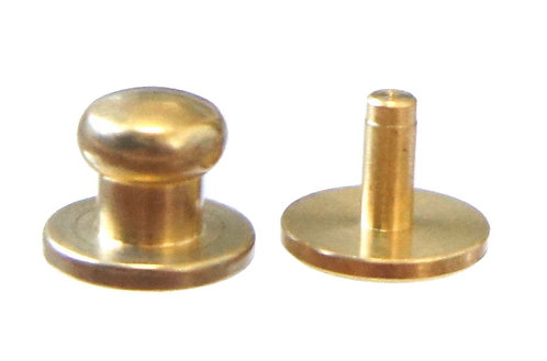 8mm Button Stud [ Brass - Rivet back ] Smoky Sumi's Store