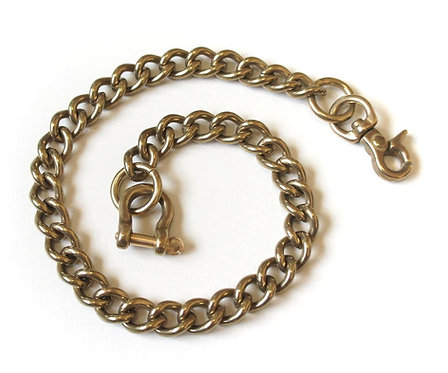 Wallet Chain [ Smooth Shape 2.8mm x 40cm / Brass ]