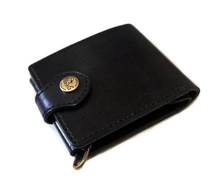 SasoRi Old Valley Tokyo Leather Billfold [ Black ]